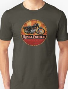 Royal Enfield Vintage Motorcycles UK INDIA Unisex T-Shirt