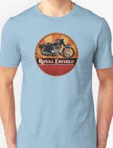Royal Enfield Vintage Motorcycles UK INDIA Unisex T-Shirt