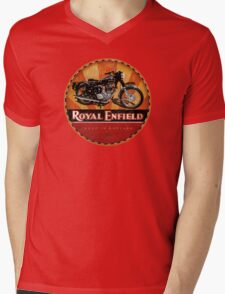 Royal Enfield Vintage Motorcycles UK INDIA Mens V-Neck T-Shirt