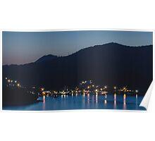 Dubrovnik Night Coast Poster