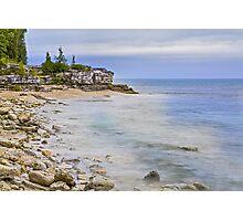 Cave Point Wisconsin Coastline Photographic Print