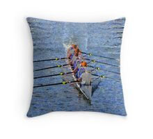 The art of rowing Throw Pillow