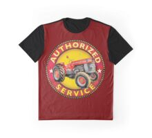 Massey Ferguson Vintage Tractor Service Graphic T-Shirt