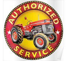 Massey Ferguson Vintage Tractor Service Poster