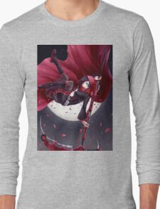 Red Rider Rose Long Sleeve T-Shirt