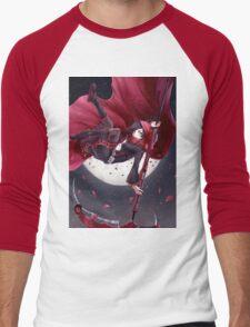 Red Rider Rose Men's Baseball ¾ T-Shirt