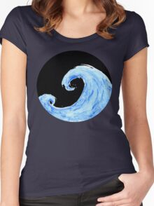 Ocean Breathes Salty Women's Fitted Scoop T-Shirt