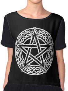Celtic Pentacle, Pentagram Chiffon Top