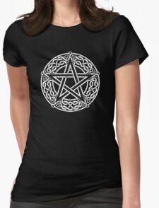 Celtic Pentacle, Pentagram Womens Fitted T-Shirt