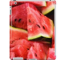 Food: slices of watermelon, arranged as background pattern, close-up shot iPad Case/Skin