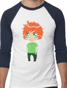 Red Headed Guy In Green Clothes Men's Baseball ¾ T-Shirt
