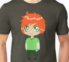 Red Headed Guy In Green Clothes Unisex T-Shirt