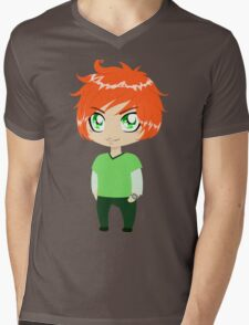 Red Headed Guy In Green Clothes Mens V-Neck T-Shirt