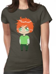 Red Headed Guy In Green Clothes Womens Fitted T-Shirt