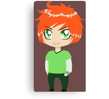 Red Headed Guy In Green Clothes Canvas Print