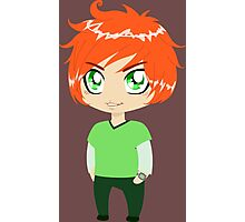 Red Headed Guy In Green Clothes Photographic Print