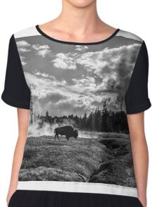 Lonely Bison Chiffon Top
