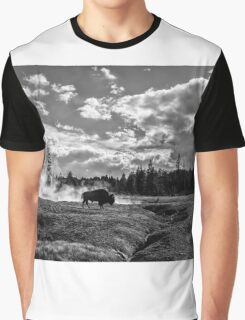 Lonely Bison Graphic T-Shirt
