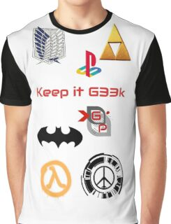 "G33k P0p ""Keep it G33K"" Graphic T-Shirt"
