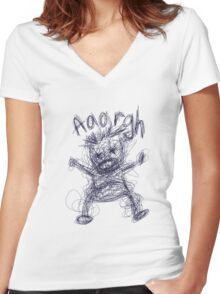 Aaaaargh! Women's Fitted V-Neck T-Shirt
