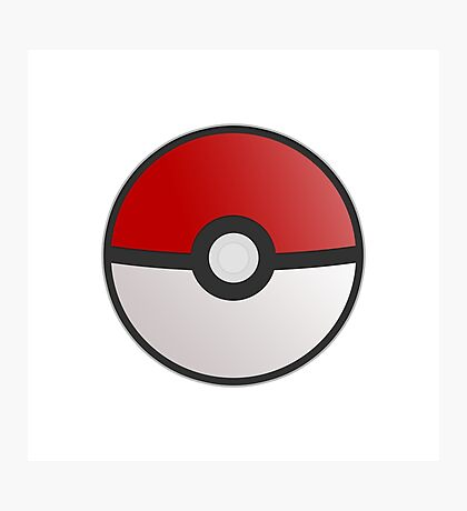 Pokemon Pokeball Photographic Print
