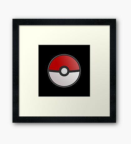 Pokemon Pokeball Framed Print