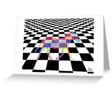 Checkered Zebra Greeting Card