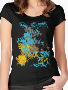 Abstract Retro Pattern 1 Women's Fitted Scoop T-Shirt