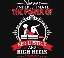 never underestimate the power of red lipstick Womens Fitted T-Shirt