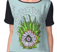 Ned's Atomic Flower Chiffon Top