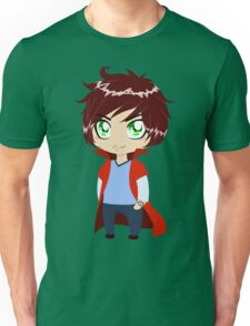 Guy In Blue Clothes Wearing Red Cape Unisex T-Shirt