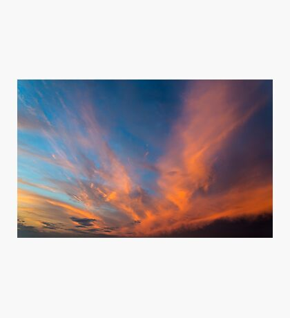 Sky with orange clouds. Photographic Print