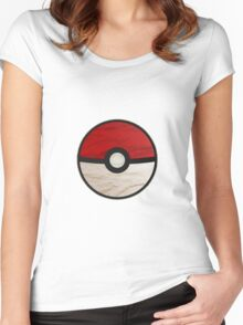 Pokeball vs Pokemon Women's Fitted Scoop T-Shirt