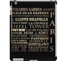 Paris France Famous Landmarks iPad Case/Skin