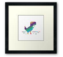 My Offline rainbow Dinosaur Framed Print