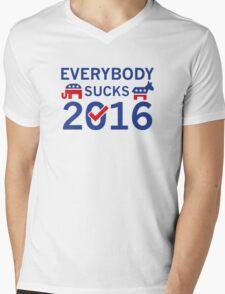 Everybody Sucks 2016 Mens V-Neck T-Shirt