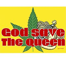 God Save The Queen - Weed Clothing and Gifts Design Photographic Print