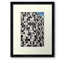 Windows And Lines Framed Print