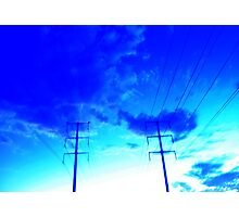hyper clouds  Photographic Print