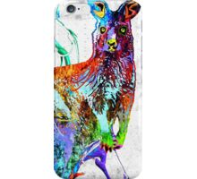 Kangaroo Grunge iPhone Case/Skin