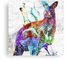 Kangaroo Grunge Metal Print