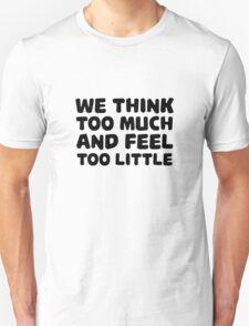 Charlie Chaplin Quote Inspirational Emotional Unisex T-Shirt