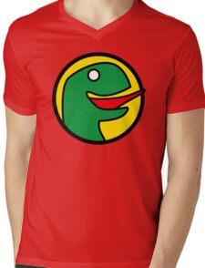 Happy Dino Mens V-Neck T-Shirt