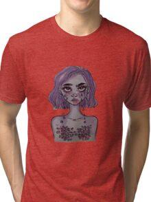 Crying Petals Tri-blend T-Shirt
