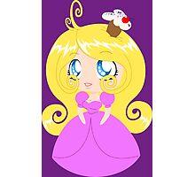 Blond Cupcake Princess In Pink Dress Photographic Print