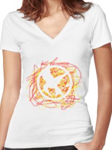 You are the mockingjay Women's Fitted V-Neck T-Shirt
