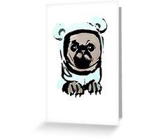 Pug in the hood Greeting Card