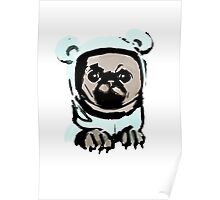 Pug in the hood Poster