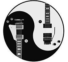 Yin Yang - Guitars Photographic Print