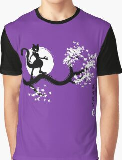 Japan purple Graphic T-Shirt